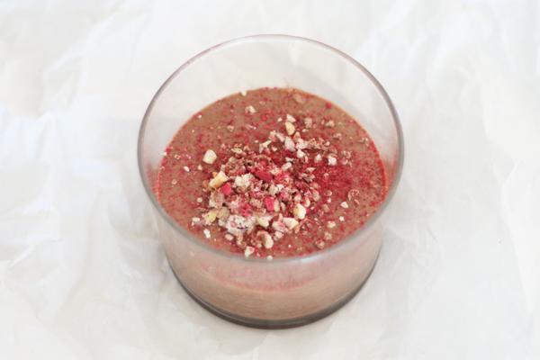 Chokolademousse med vand
