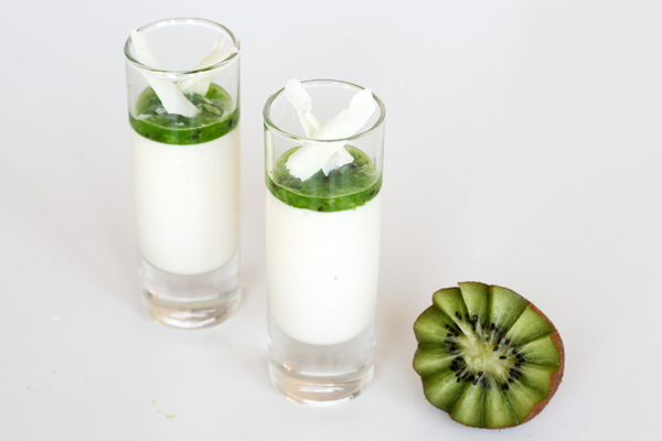 Yoghurt panna cotta med kiwi