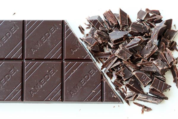 Chokoladetærter med mandelbund