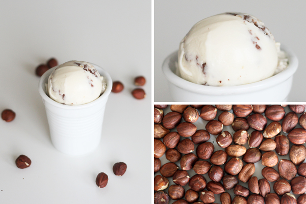 Hasselnøddeis med karamelliserede hasselnødder og Amedei Toscano Brown mælkechokolade