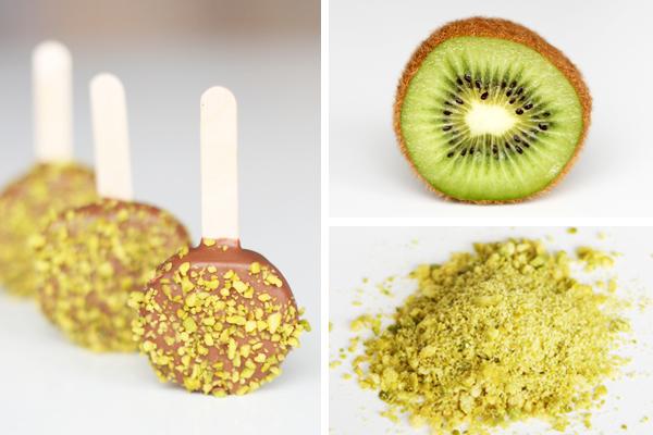 Iskold kiwi med mælkechokolade