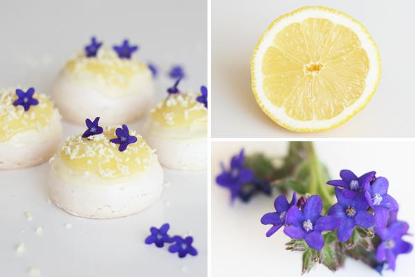 Mini-marengs med citron og hvid chokolade
