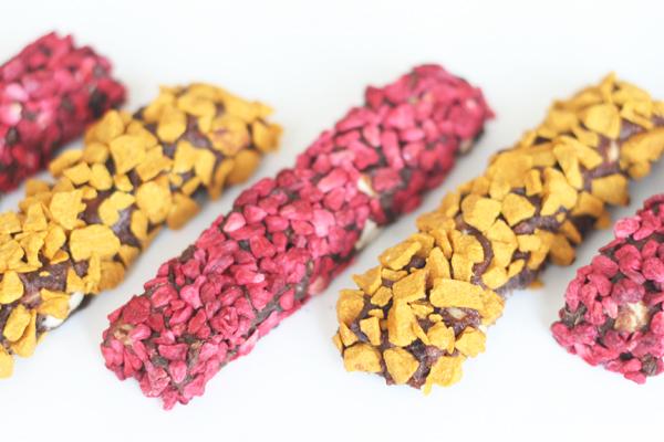 Sunde snack stænger med dadler og nødder
