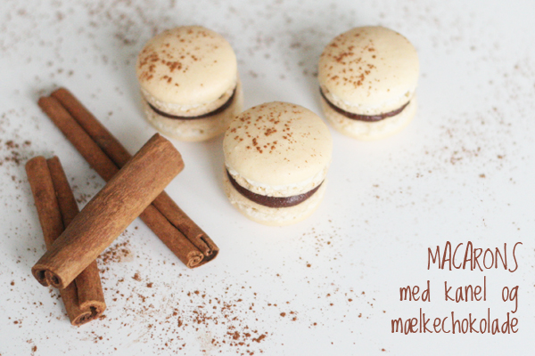 Macarons med kanel og jul