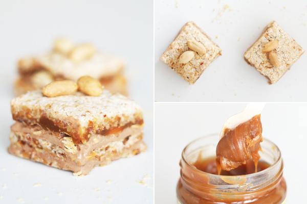 Snickersfragilite med karamel, jordnødder og chokoladeis
