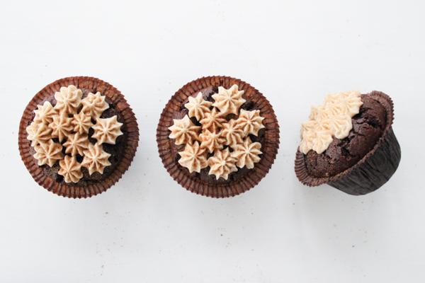 Chai chokolade cupcakes