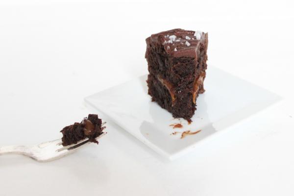 Nytårsdessert: Chokoladekage med saltkaramel