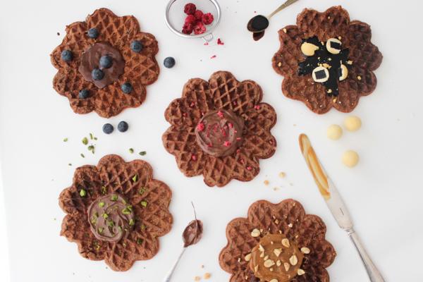 Glutenfrie chokoladevafler