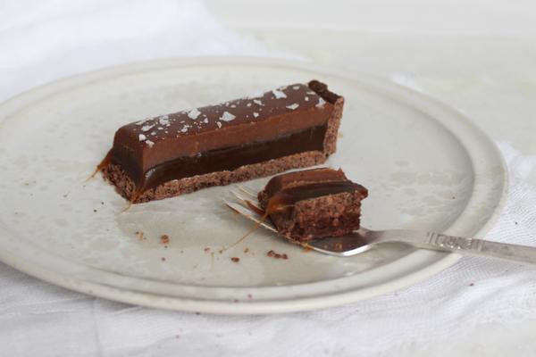 himmelsk karamel chokoladekage