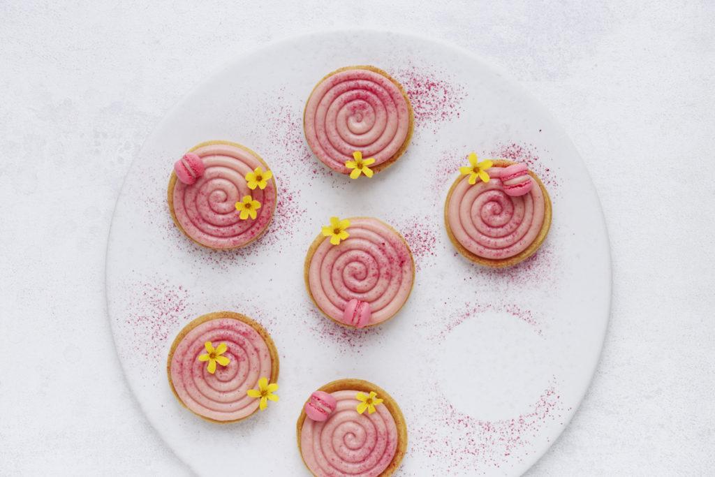 Mazarintærter hindbær cremeux