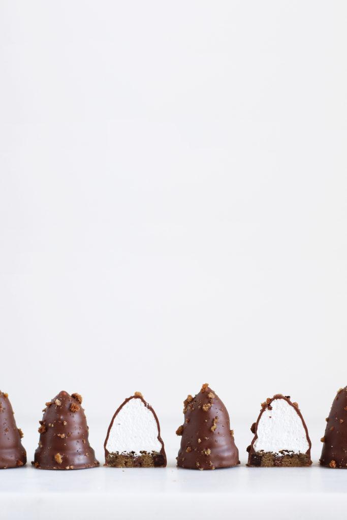 Flødeboller med cookiebund