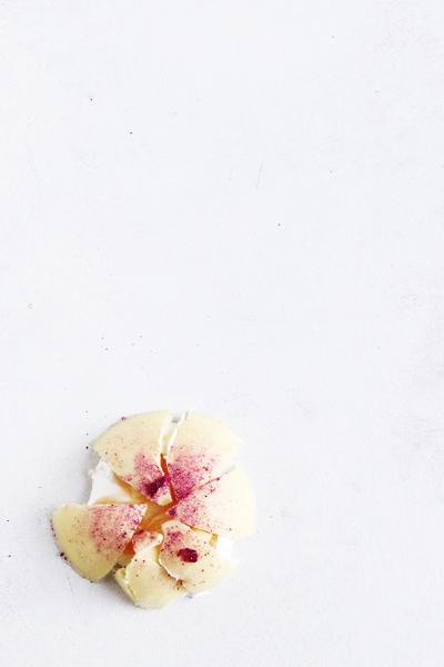 flødeboller med citron og hindbær