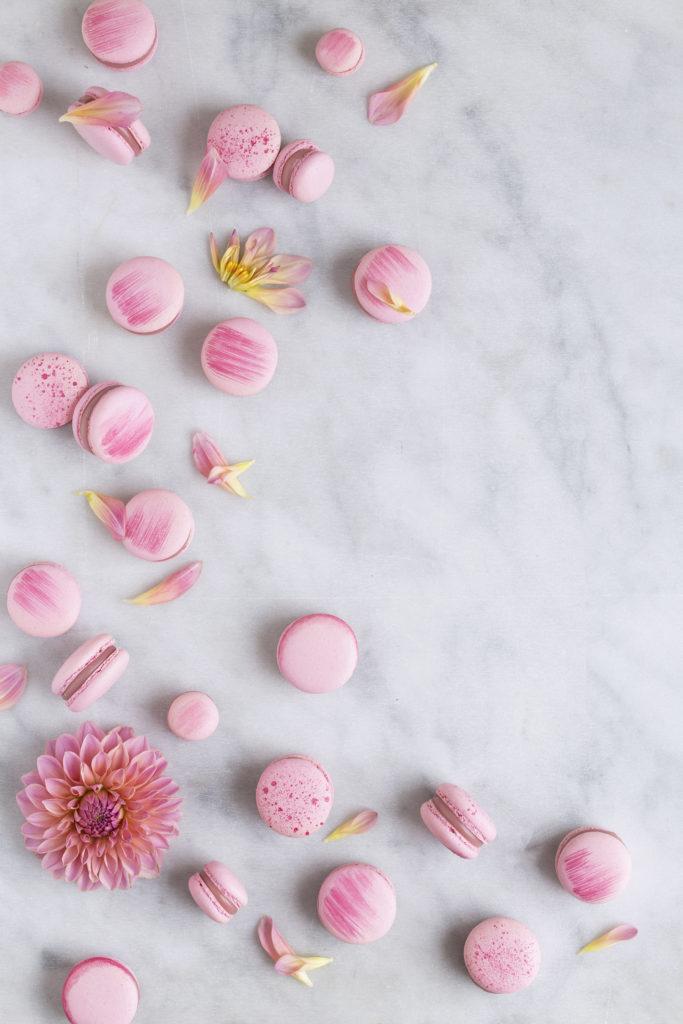 kirsebærmacarons med kirsebærganache