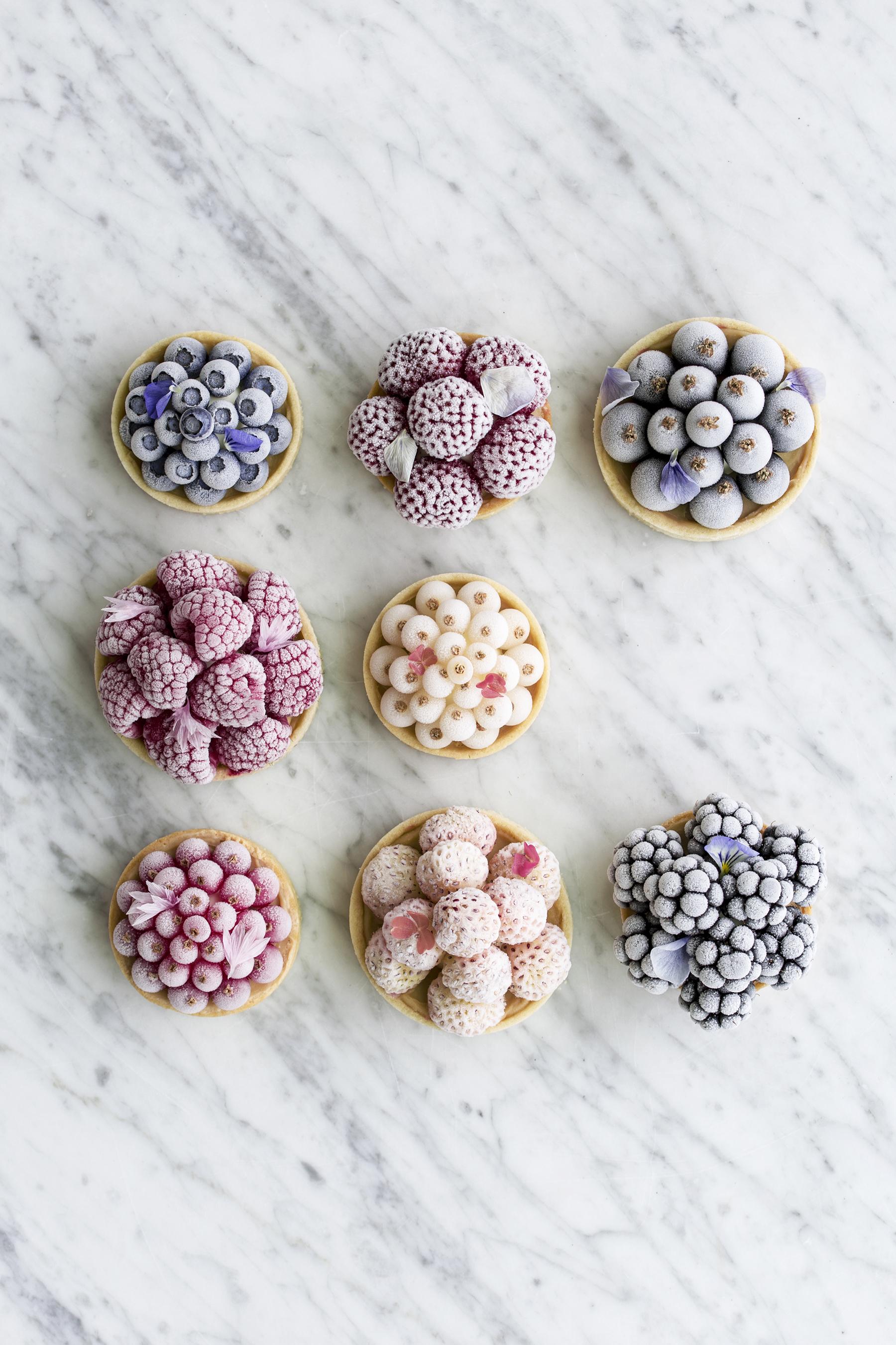 istærter med frozen bær